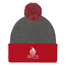 Load image into Gallery viewer, Pom Pom Knit Cap, can't fail when sail - Local Web Store - [product type] Collection