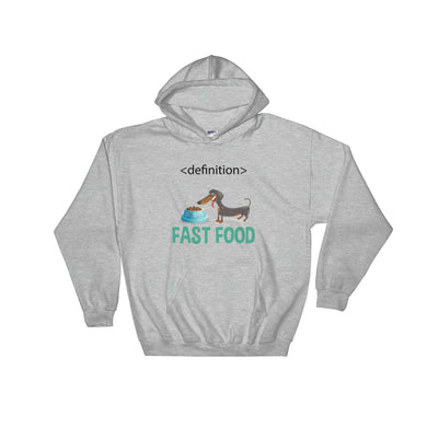 Hooded Sweatshirt, dachshund fast food-Dachshund-Local Webstore