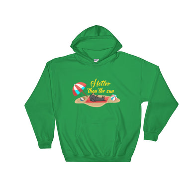 Hooded Sweatshirt, hotter than the sun-Dachshund-Local Webstore