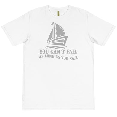 Organic T-Shirt, no fail when sail-Marine-Local Webstore