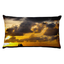 Load image into Gallery viewer, Premium Pillow, sailboat in sunset-Marine-Local Webstore