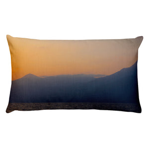 Premium Pillow, mountains in sunrise-Marine-Local Webstore