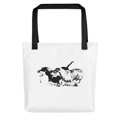 Tote Bag, running dachshunds-Dachshund-Local Webstore