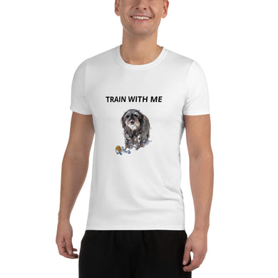 Men's Athletic T-shirt, train with me-Dachshund-Local Webstore