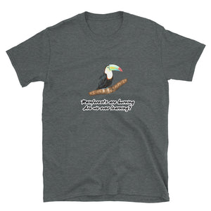 Bargain T-Shirt, rainforests are burning-Sustainability-Local Webstore
