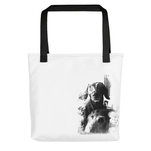 Tote Bag, two dachshunds-Dachshund-Local Webstore