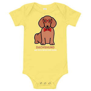 Baby bodysuit, you'll never sleep alone-Dachshund-Local Webstore