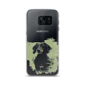 Samsung Case, black dachshund-Dachshund-Local Webstore