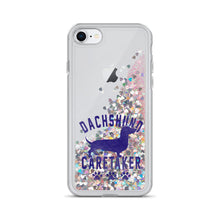 Load image into Gallery viewer, Liquid Glitter Phone Case, dachshund caretaker-Dachshund-Local Webstore