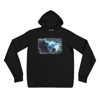 Hooded Sweatshirt, stormy ocean-Marine-Local Webstore