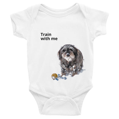 Infant Bodysuit, dachshund with ball-Dachshund-Local Webstore