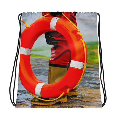 Drawstring Bag, lifering and rescuer-Marine-Local Webstore