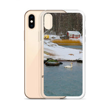 Load image into Gallery viewer, iPhone Case, swan in wintery archipelago-Marine-Local Webstore