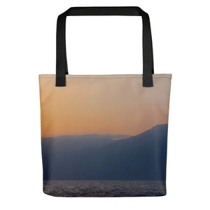 Tote Bag, mountains in sunrise-Marine-Local Webstore