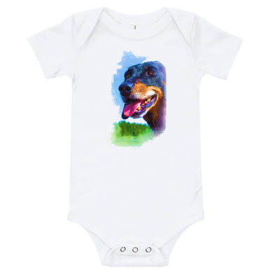 Baby Bodysuit, dachshund - Local Web Store - [product type] Collection