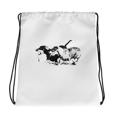 Drawstring Bag, running dachshunds - Local Web Store - [product type] Collection