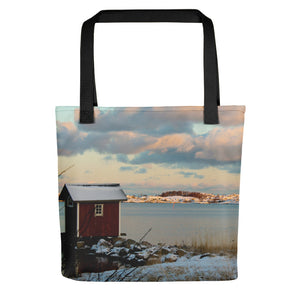 Tote Bag, small hut in archipelago-Marine-Local Webstore