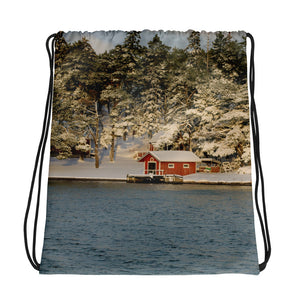 Drawstring Bag, shed in archipelago-Marine-Local Webstore