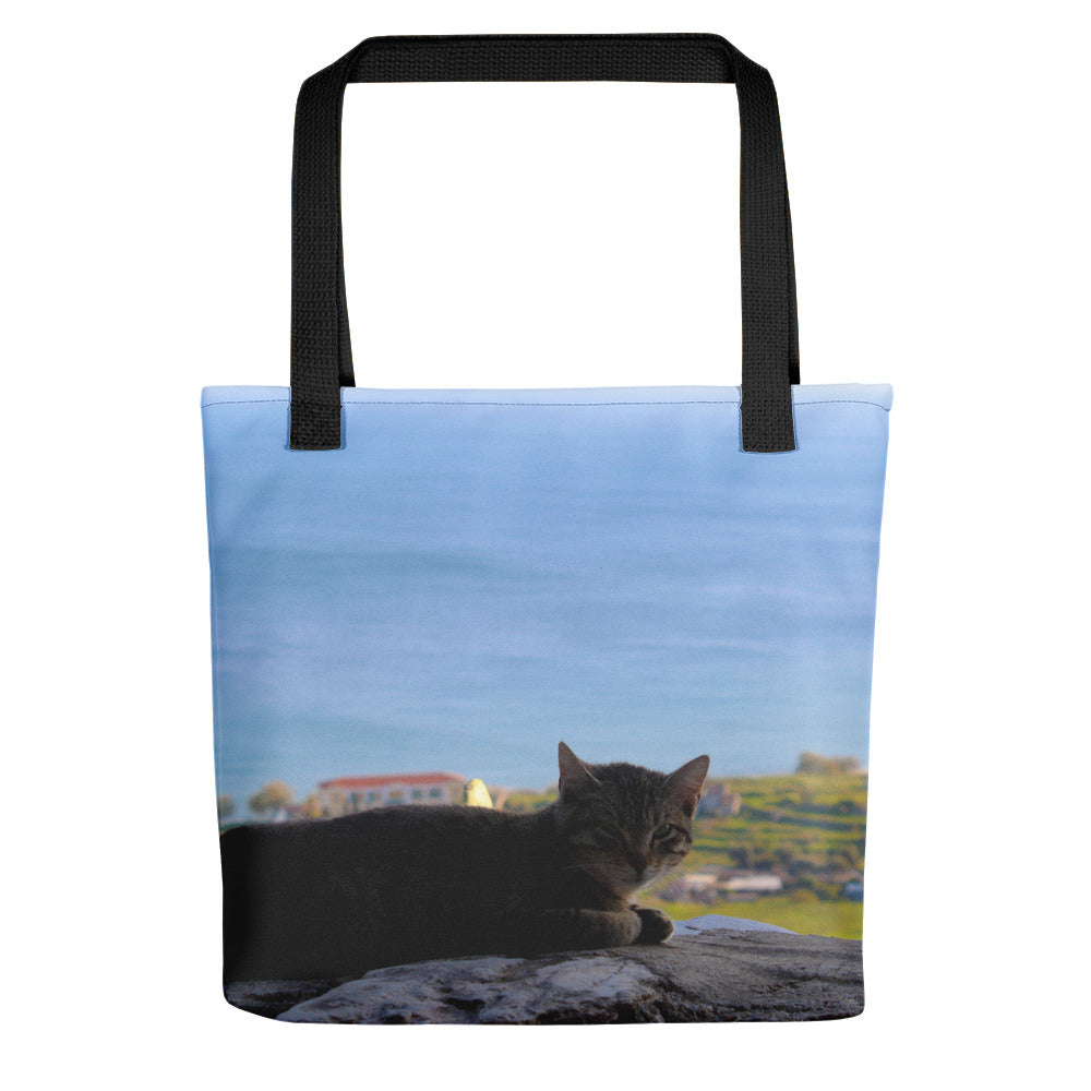 Tote Bag, cat by the sea-Marine-Local Webstore