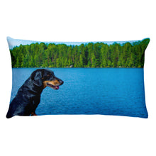 Load image into Gallery viewer, Premium Pillow, black dachshund-Dachshund-Local Webstore
