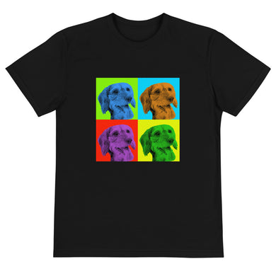 Sustainable T-Shirt, Andy Warhol dachshund-Local Webstore