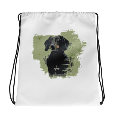 Drawstring Bag, smooth coat dachshund - Local Web Store - [product type] Collection
