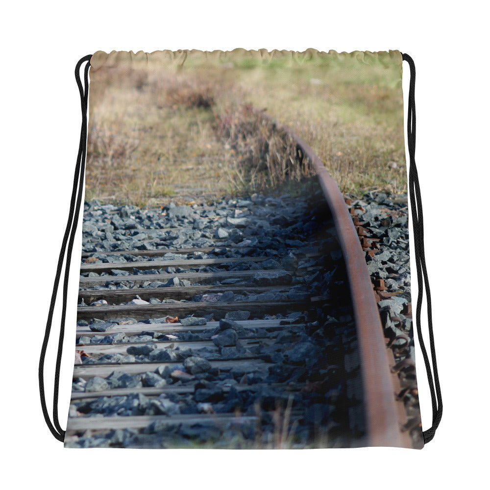 Drawstring Bag, railway line - Local Web Store - [product type] Collection