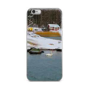 iPhone Case, swan in wintery archipelago-Marine-Local Webstore