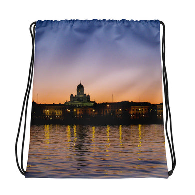 Drawstring Bag, cityscape-Marine-Local Webstore