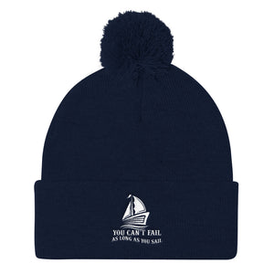 Pom Pom Knit Cap, can't fail when sail-Marine-Local Webstore