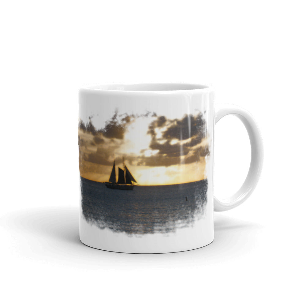 Mug, sailboat in sunset - Local Web Store - [product type] Collection