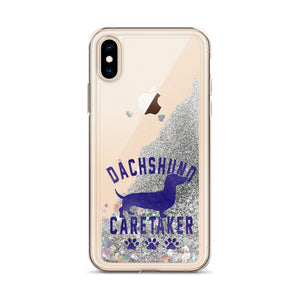 Liquid Glitter Phone Case, dachshund caretaker-Dachshund-Local Webstore
