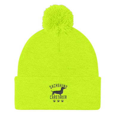 Pom Pom Knit Cap, dachshund caretaker - Local Web Store - [product type] Collection