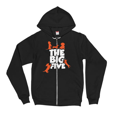 Zip Hoodie, the big five-Dachshund-Local Webstore