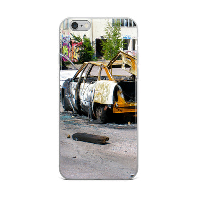 iPhone Case, burnt cars-Freedom-Local Webstore