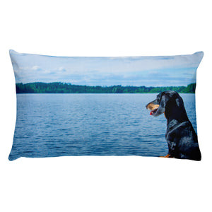 Premium Pillow, smooth coat dachshund-Dachshund-Local Webstore