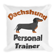 Load image into Gallery viewer, Premium Pillow, personal trainer dachshund-Dachshund-Local Webstore