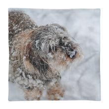 Load image into Gallery viewer, Premium Pillow Case, dachshund in snow-Dachshund-Local Webstore