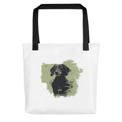 Tote Bag, black dachshund - Local Web Store - [product type] Collection