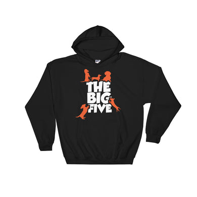 Hooded Sweatshirt, the big five-Dachshund-Local Webstore