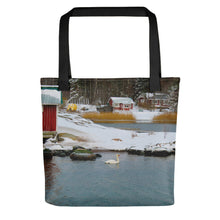 Load image into Gallery viewer, Tote Bag, swan in winter archipelago-Marine-Local Webstore