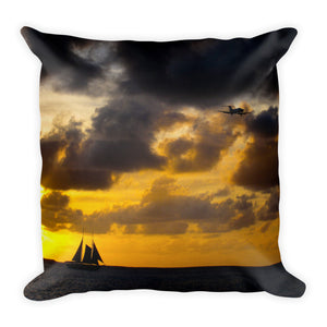 Premium Pillow, sailboat in sunset-Marine-Local Webstore