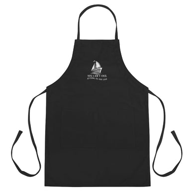 Embroidered Apron, can't fail when sail-Marine-Local Webstore