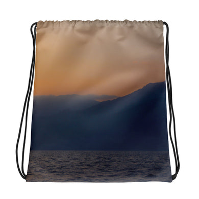 Drawstring Bag, mountains in sunrise-Marine-Local Webstore