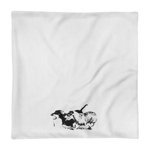 Premium Pillow Case, running dachshunds-Dachshund-Local Webstore