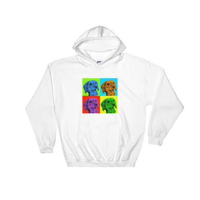Hooded Sweatshirt, Andy Warhol dachshund-Dachshund-Local Webstore