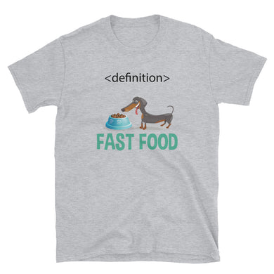 Bargain T-Shirt, dachshund fast food-Dachshund-Local Webstore