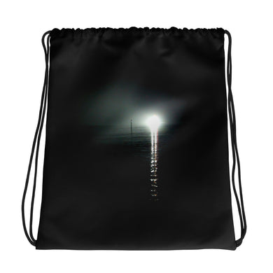 Drawstring Bag, search light at sea-Marine-Local Webstore