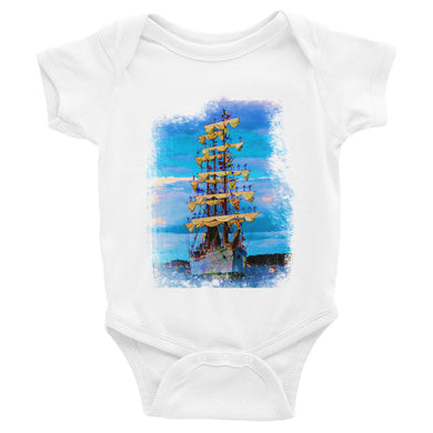 Infant Bodysuit, tall ship-Marine-Local Webstore