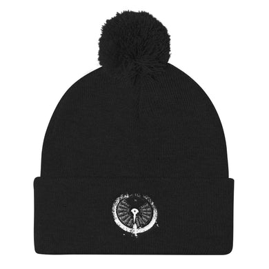 Pom Pom Knit Cap, submarine gauge-Marine-Local Webstore